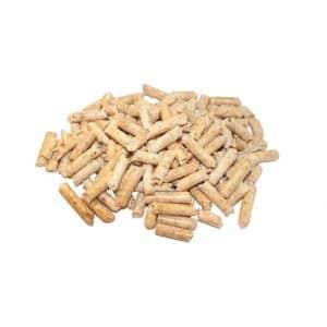 En lille bunke med træpiller 6 mm