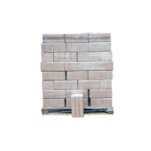 træbriketter på en palle, 96 poser a 10 kg