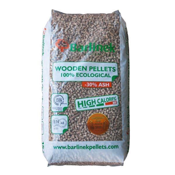 Barlinek træpiller 8 mm 1 sæk a 15 kg